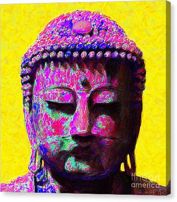 Kitschy Canvas Print - Buddha 20130130m168 by Wingsdomain Art and Photography