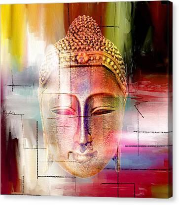 Caricature Canvas Print - Buddha  4 by Mark Ashkenazi