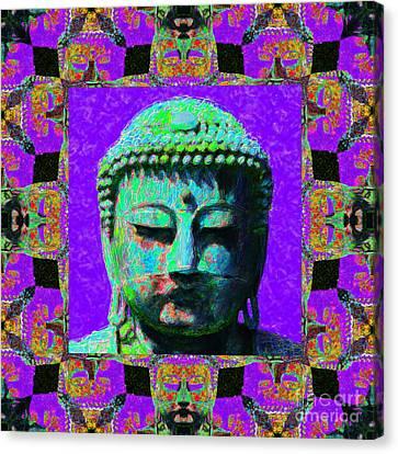 Budda Canvas Print - Buddha Abstract Window 20130130m28 by Wingsdomain Art and Photography