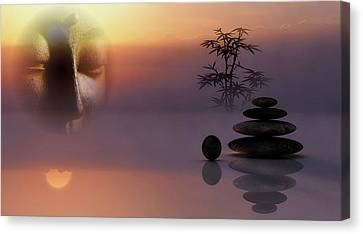 Buddha And Stones - Serenity Canvas Print