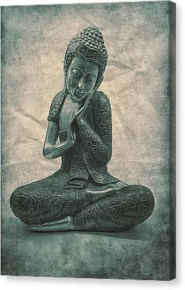 Buddha Contemplate Canvas Print by Madeleine Forsberg