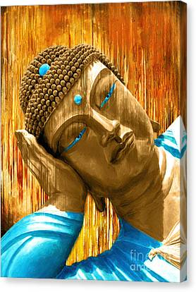 Buddha Contemplation Canvas Print by Khalil Houri