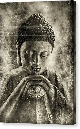 Buddha Dark Sepia Canvas Print