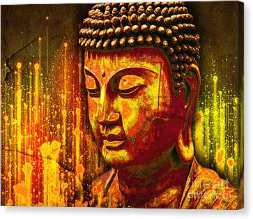 Buddha Eclipse Canvas Print by Khalil Houri
