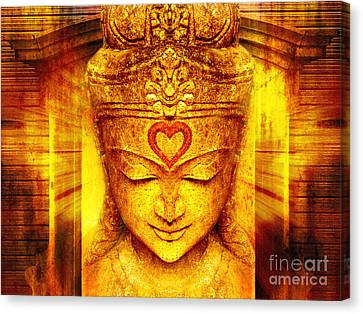 Buddha Entrance Canvas Print by Khalil Houri