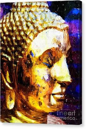 Buddha Immersion Canvas Print by Khalil Houri