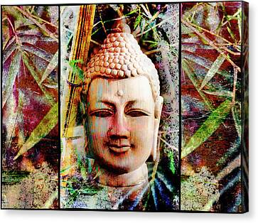 Buddha In Bamboo Canvas Print by Skip Nall