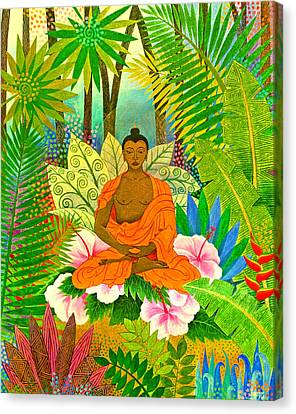 Enlightenment Canvas Print - Buddha In The Jungle by Jennifer Baird