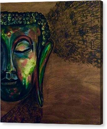 Buddha In Trance Canvas Print by Malvika Umang