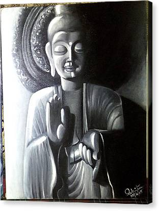 Buddha Canvas Print by Ishita Sarkar