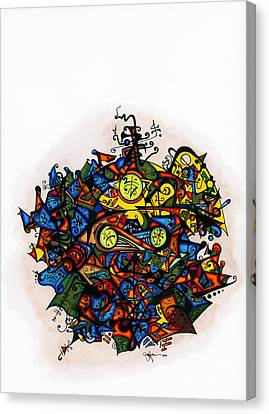 Abstract Digital Canvas Print - Buddha  by Joey Gonzalez