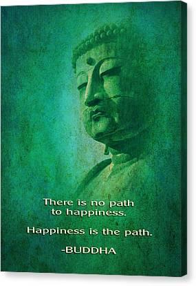 Canvas Print featuring the digital art Buddha by John Wills