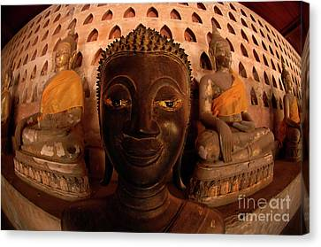 Canvas Print featuring the photograph Buddha Laos 1 by Bob Christopher