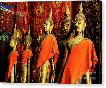 Canvas Print featuring the photograph Buddha Laos 2 by Bob Christopher
