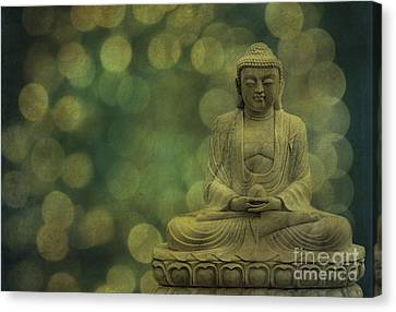 Buddha Light Gold Canvas Print by Hannes Cmarits