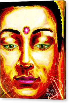 Buddha Love Canvas Print by Khalil Houri