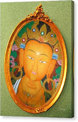 Buddha Mirror Canvas Print