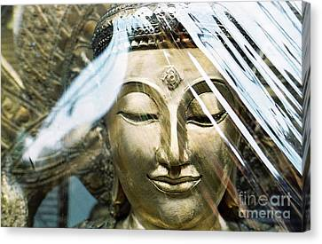 Canvas Print featuring the photograph Buddha Protected by Dean Harte