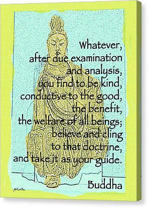 Buddha Quote 3 Canvas Print