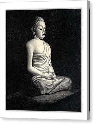 Buddha Sketch Canvas Print - Buddha by Rachna Gupta