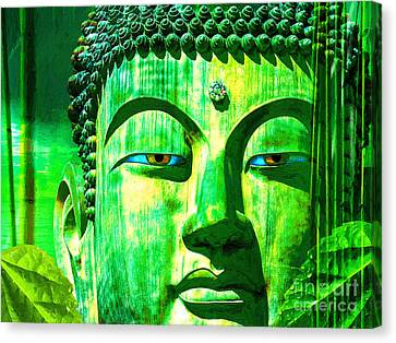 Buddha Rainforest Canvas Print by Khalil Houri