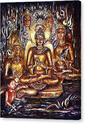 Buddha Reflections Canvas Print by Harsh Malik