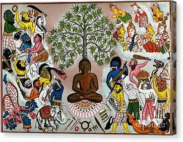 Buddha Resisting The Demons Of Mara Canvas Print