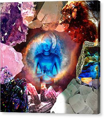 Buddha Rocks Canvas Print by Olivia Tatara