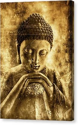 Buddha Ruby Red Canvas Print