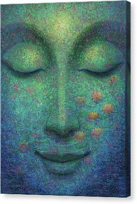 Canvas Print featuring the painting Buddha Smile by Sue Halstenberg