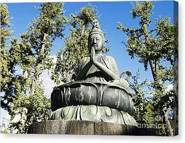Buddha Statue Canvas Print by Bill Brennan - Printscapes