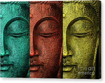 Buddha Statue Canvas Print by Mark Ashkenazi