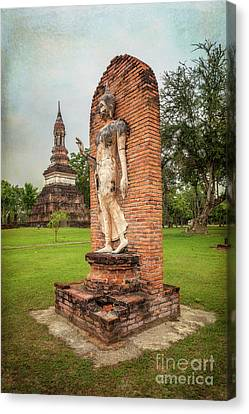 Canvas Print featuring the photograph Buddha Statue Sukhothai by Adrian Evans
