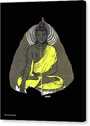 Canvas Print featuring the painting Buddha by Suhas Tavkar