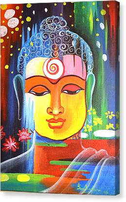 Buddha Canvas Print by Sujit Maharana