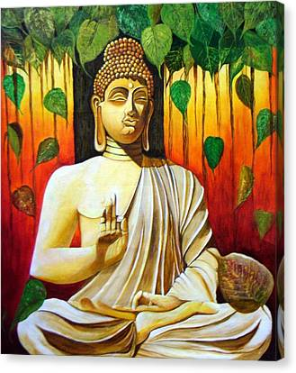 Buddha- The Enlightened One Canvas Print by Mrs Neeraj Parswal