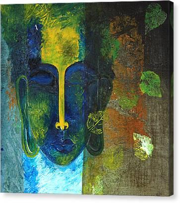 Buddha - The Tranquility Canvas Print by Mrunal Limaye