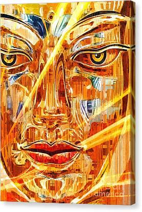 Buddha Titanium Canvas Print by Khalil Houri