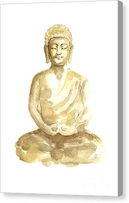 Buddha Watercolor Art Print Painting Canvas Print