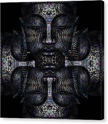 Buddhas Psylence Canvas Print by Shiva Designz