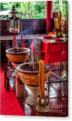 Buddhist Incense Canvas Print by Adrian Evans