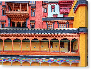 Canvas Print featuring the photograph Buddhist Monastery Building by Alexey Stiop