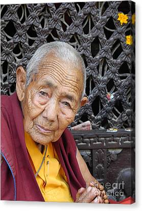 Buddhist Monk Kathmandu Canvas Print