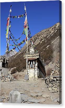 Buddhist Prayer Wheels Canvas Print