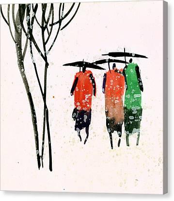Buddies 3 Canvas Print by Anil Nene