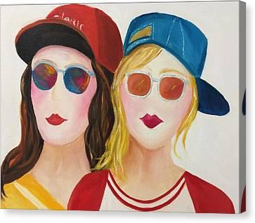 Buddies Canvas Print by Jenny Be
