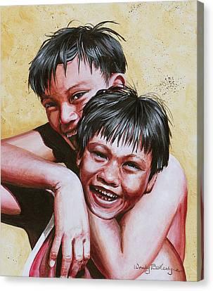 Buddies Canvas Print by Wendy Ballentyne