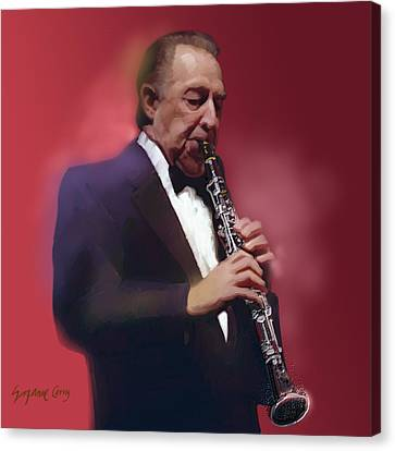 Buddy Defranco Clarinet Canvas Print