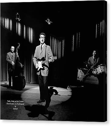 Cricket Canvas Print - Buddy Holly And The Crickets by Garland Johnson