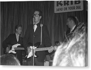 Buddy Holly Onstage At The Surf Ball Room Playing His Last Concert Canvas Print by The Titanic Project